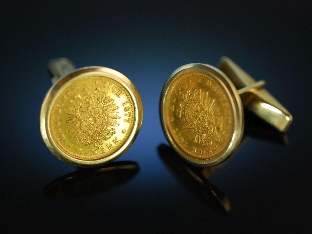 Coin Cufflinks Manschettenknöpfe Goldmünzen Deutsches Reic