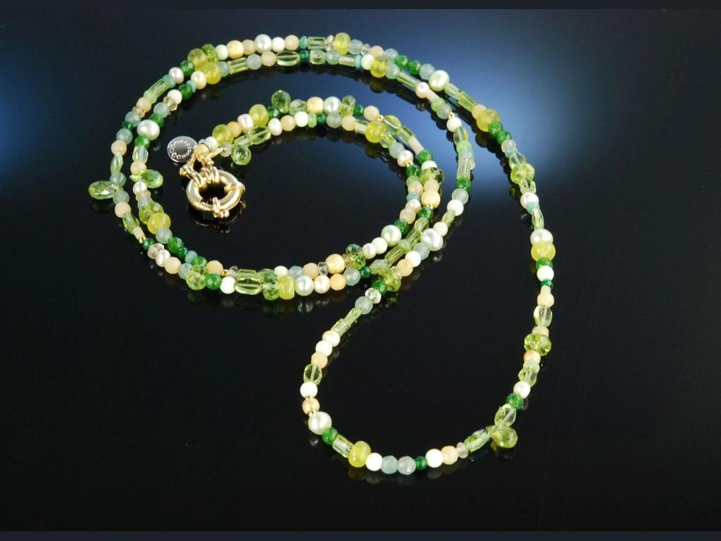 fancy green lange kette oder armband peridot lemoncitrin. Black Bedroom Furniture Sets. Home Design Ideas