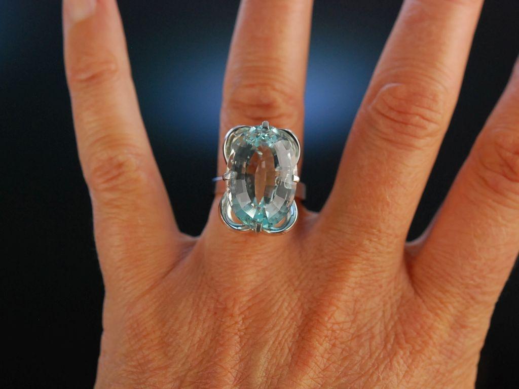 Carat Ring On Finger