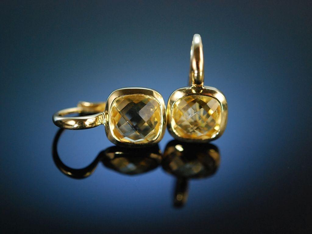 Ohrringe gold mit citrin