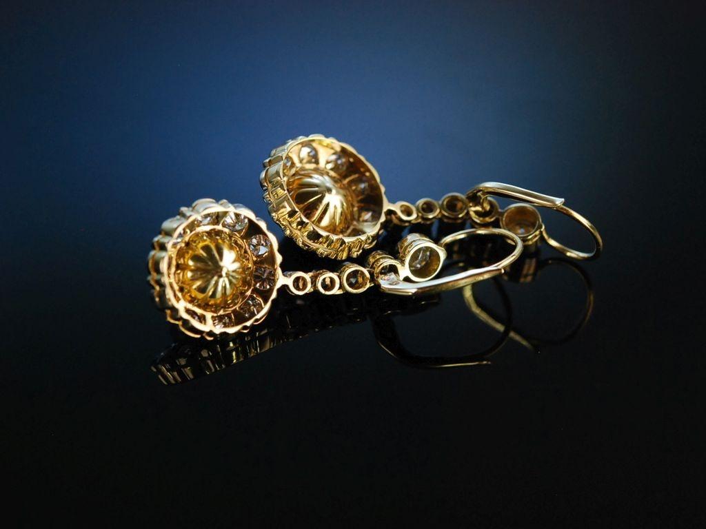 natural pearls historische ohrringe gold 585 orient perlen diamanten. Black Bedroom Furniture Sets. Home Design Ideas
