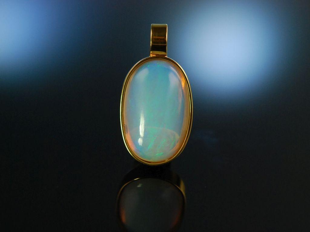 traumhaftes farbenspiel gro er kristall opal anh nger sil. Black Bedroom Furniture Sets. Home Design Ideas