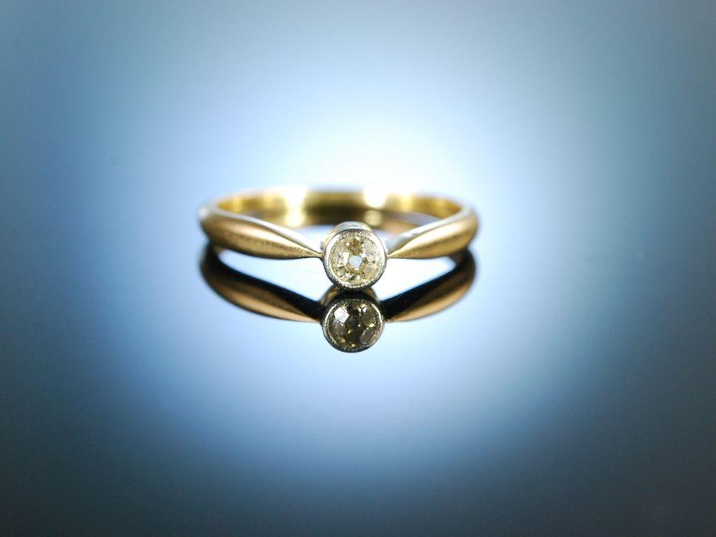 verlobungsring der jahrhundertwende diamant ring altschliff ca 0 17. Black Bedroom Furniture Sets. Home Design Ideas