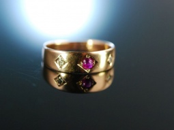 For you! Antiker Freundschafts Band Ring um 1900 Gold 585...