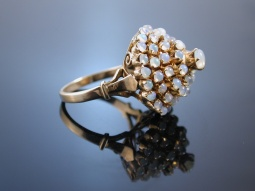 Traumhafter Vintage Ring! Cluster Ring Opal Gold 585 USA...