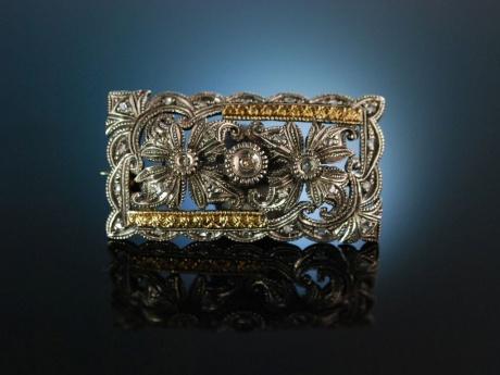 Antique Silber Brotsche Ohrringeamp; Stecker Mit Perlen 35RjL4A