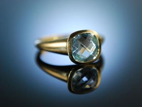 italian style ring gold 750 blue topas schachbrettschliff 499 00 e. Black Bedroom Furniture Sets. Home Design Ideas