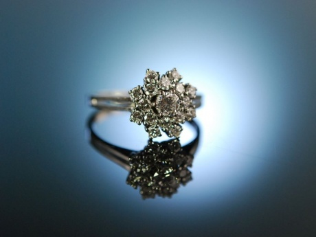 Love me tender! Traumhafter Verlobungs Engagement Ring Gold Brillanten 1,1 ct