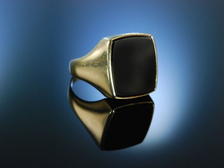 Siegelring Herren Ring Wappenring Gold 333 Onyx
