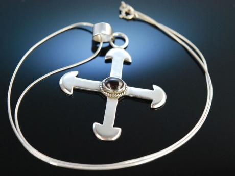 silver cross kreuz anh nger mit kette silber 925 granat. Black Bedroom Furniture Sets. Home Design Ideas