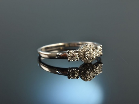 Forever you! Feiner Brillant Verlobungs Ring 0,1 ct Weiß Gold 750