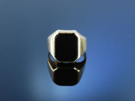 Herrenring Siegelring Gold 333, Onyx