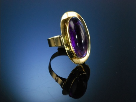 Sixties Vintage Ring Gold 333 Amethyst um 1960