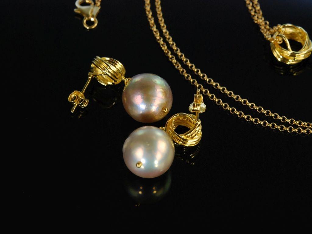 Teilvergoldet Schönes Schmuck- Design Silber 925 Brosche Auch Anhänger