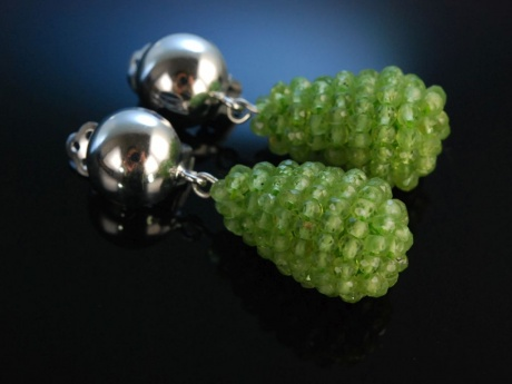 Cool Green! Ohrringe Silber 925 Peridots