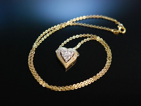 Diamond Heart! Wundervolles Herz Collier Brillanten 1,9 ct Gold 750