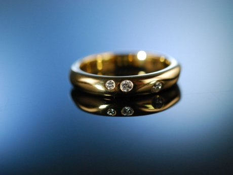 Say yes! Engagement Freundschafts Verlobungs Diamant Ring Gold 750 Brillanten
