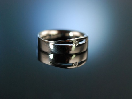 For ever my love! Schwerer Diamant Verlobungs Platin Ring Niessing signiert