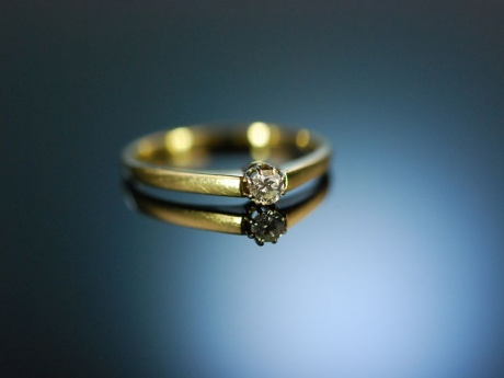 My lovely! Zarter Diamant Verlobungs Ring Gold 585 ca 0,1 ct