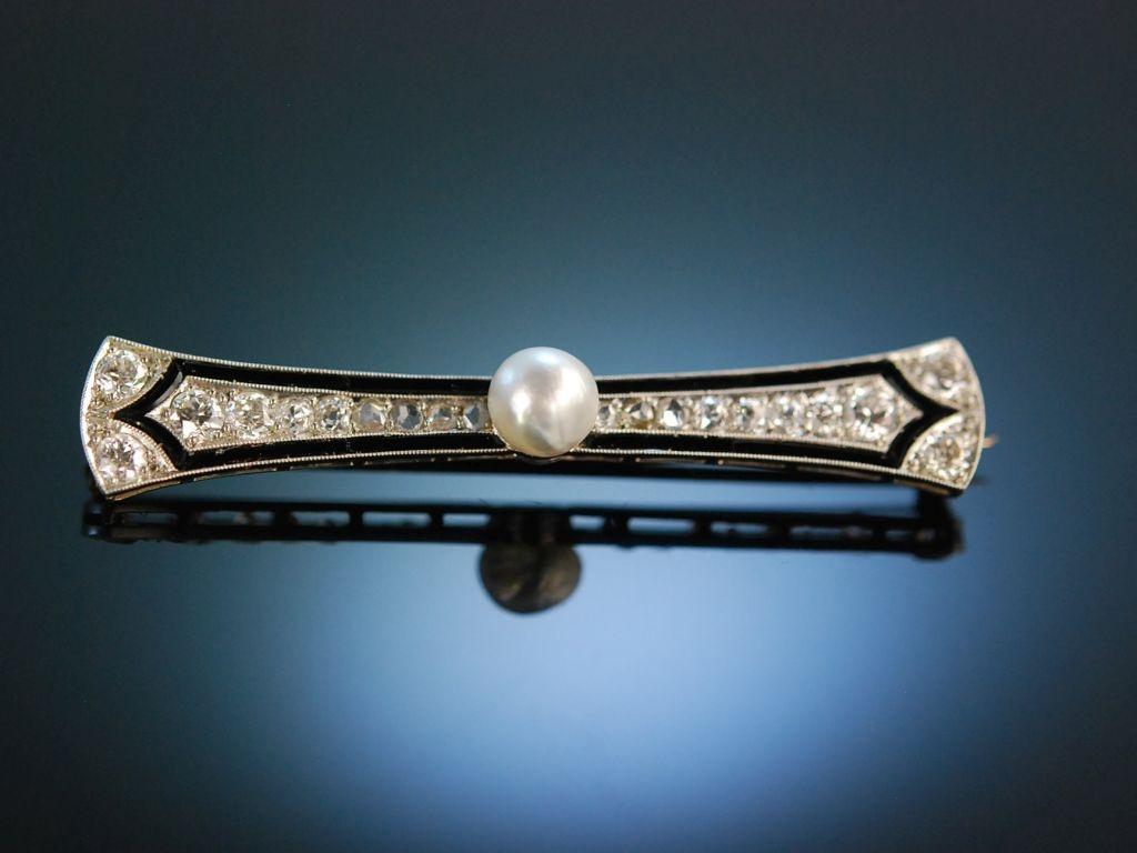 um 1910 edle art d co brosche platin orient perle diamanten o. Black Bedroom Furniture Sets. Home Design Ideas