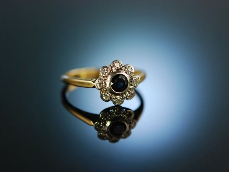 My Love! Daisy Verlobungs Engagement Ring Gold 750 Saphir Diamanten