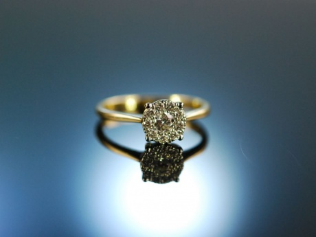 Say yes! Traum Diamant Verlobungs Ring Gold 750 Brillanten