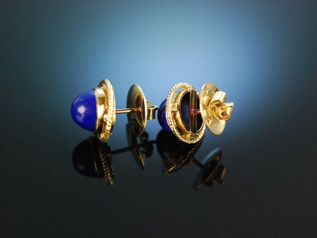 Ohrringe gold lapislazuli
