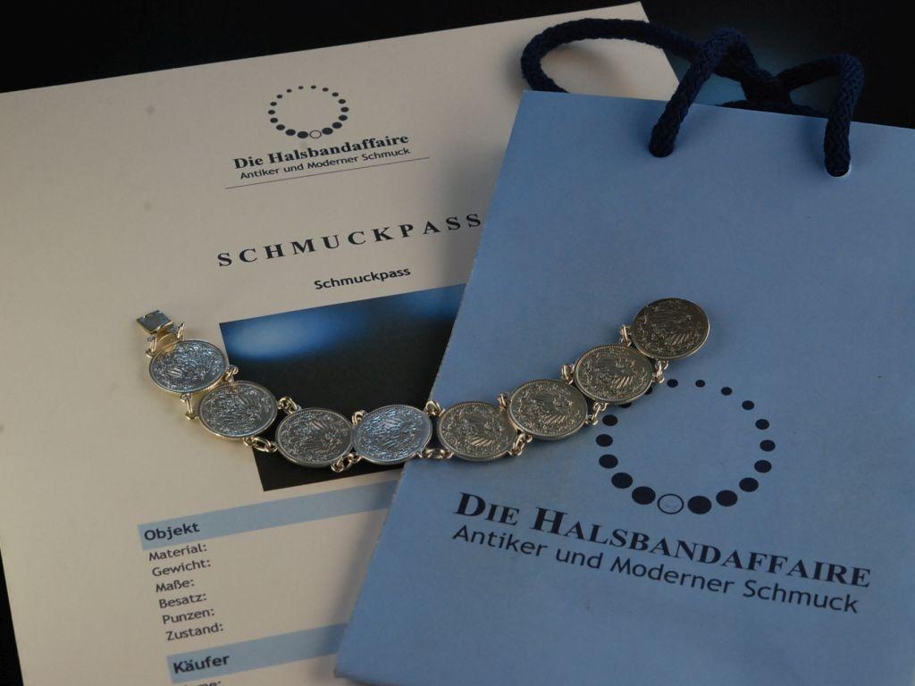Hübsch Zur Tracht Silber Münzen Armband 12 Mark Deutsches