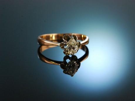 Russland Um 1930 Historischer Ring Mit Diamant Tropfen Ca 0 35