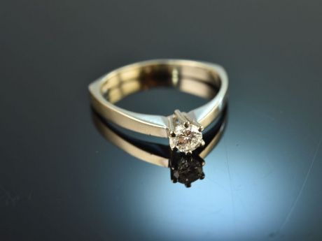 My one and only! Brillant Solitär Verlobungs Ring 0,25 ct Gold 585