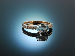 Sag ja! Verlobungs Engagement Ring Gold 750 Topas Brillanten