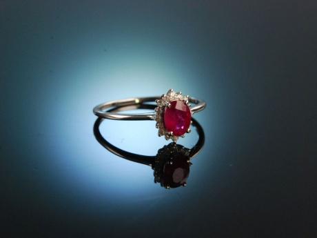 Uhren & Schmuck Broschen & Nadeln Nadel Brosche Mit Brillant Diamant Rubin Brillant In Aus Platin Rubinen