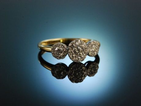 Say yes! Wundervoller Verlobungs Engagement Ring Gold 750...