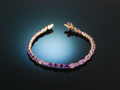 All about Amethyst! Wundervolles Amethyst Armband Rosé Gold 750 Amethyste