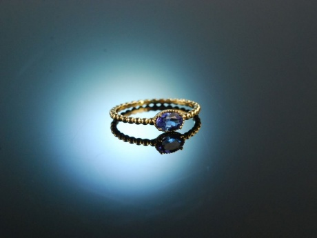 My Little Tanzanite Love! Engagement Verlobungs Ring Gelb Gold 750 Tansanit