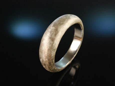 Icy Silver Bangle! Großer satinierter Armreif Sterling Silber 925
