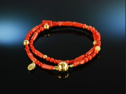 Cool Coral! Fancy Armband...