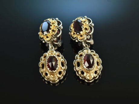 beste Angebote für jetzt kaufen offizieller Preis Tölz um 1955! Hübsche Trachten Dirndl Ohrringe Granate ...