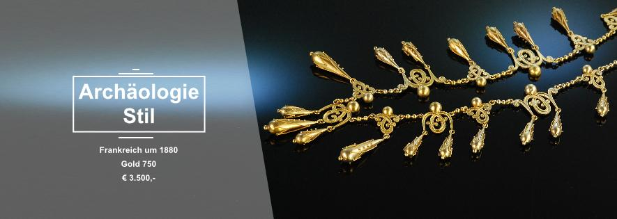 Archäologischer Stil - Collier Frankreich um