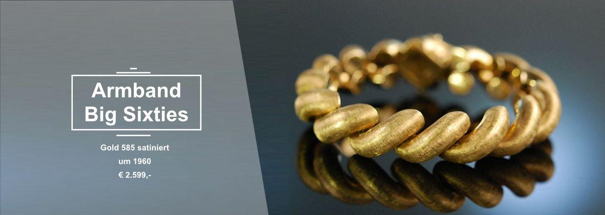 Armband Gold satiniert