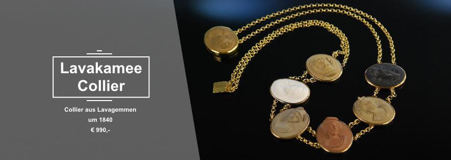 Gemmencollier um 1840 Cameo Necklace