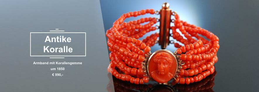 Antikes Armband Korallenkamee coral bracelet