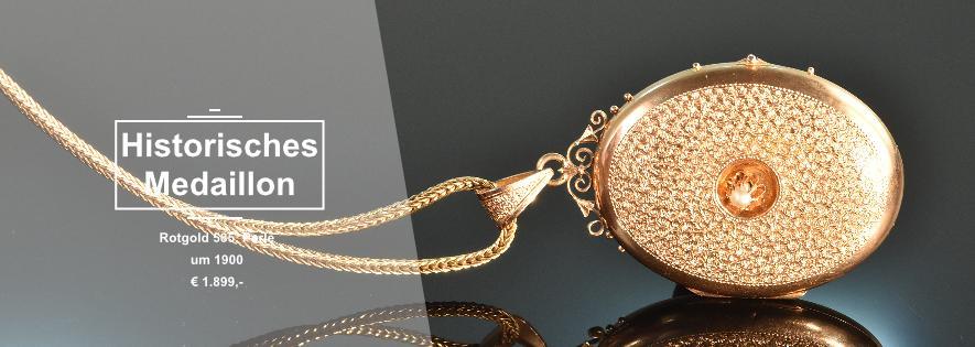 Historisches Medaillon Rotgold 585
