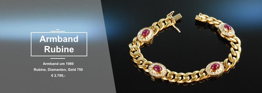 Armband Rubine Diamanten Gold