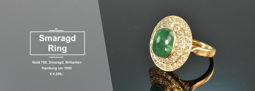 Smaragd Brillant Ring Vintage