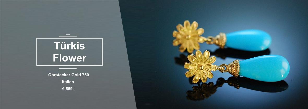 Türkis Gold 750 Ohrhänger
